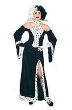 Cruella De Ville Dalmation Dog Lovin Diva Halloween Fancy Dress Size 10-14
