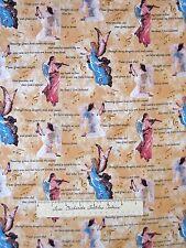 Religious Fabric - Christian Amazing Grace Lyrics Angel Beige - Springs YARD