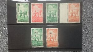 New Zealand 1939/41 SG 611/33 All 3 health stamp sets m/mint. Cat £40.00