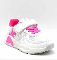 sneakers bambina estiva colore bianco e fucsia