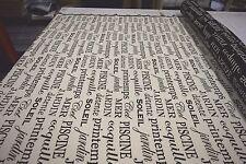 BELLA-DURA WHITE FRENCH SOLIEL JARDIN SCRIPT INDOOR OUTDOOR UPHOLSTERY FABRIC