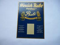 Hinrich Bube  Bubi Südfrüchte Hamburg Original altes Blechschild 1960er Jahre