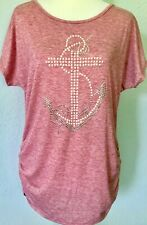 **L** SJS tunic top stones pearls Anchor Front tunic top shirt