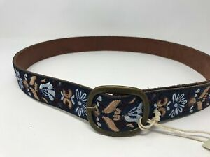 Women's Lucky Brand Suede Belt Size- S Color- Blue Floral