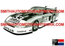 Bob Sharp Racing Paul Newman Nissan / Datsun 280ZX Turbo IMSA race car artwork