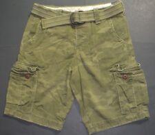 NEW Mens %HOLLISTER ABERCROMBIE% Olive Camo Cargo Vintage Shorts Sz.30