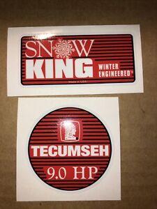 Tecumseh Snow King Snow Blower 9.0-hp Engine decal Set 2