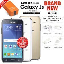 New Unlocked SAMSUNG Galaxy J5 J500F Black White Gold Dual SIM Android Phone