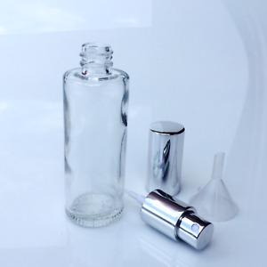 Parfum Flakon -Parfum Flasche -GLAS- leer - NEU + Trichter - 50ml-SILBER-501S