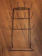 20 racks - 12 Single Peg Hooks-Counter Top Display Racks in Black- 2 Boxes of 10