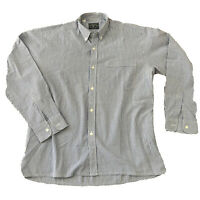 Chemise homme CONSTELLATION rayée bleu blanc - Taille L - Col oxford
