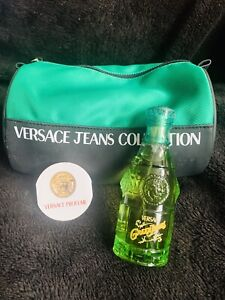 Versace Green Jeans Mens Cologne 75ML-90s Rare Discontinued Plus Travel Bag New