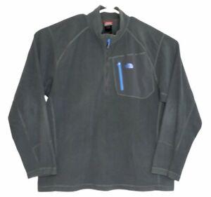 The North Face Mens Gray 1/4 Zip Pullover Fleece Jacket Polartec Size XXL