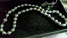 "SHOP NBC Tahitian Pearls, Platinum Color, By"" Kwan"". 14K Gold Ball closure."