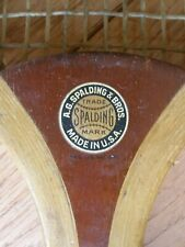Early 1900s SPALDING OVAL TENNIS RACQUET - A. G. Spalding & Brothers