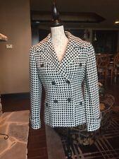 ETCETERA Carlisle Jacket Coat Size 8 blue/gray Wool blend