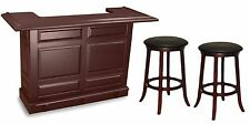 Imperial Home Bar w/ 2 FREE Stools Set - Mahogany Finish - Special Price!