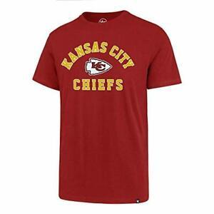 Kansas City Chiefs NFL '47 Red Varsity Arch Super Rival Tee T-Shirt Men's Large