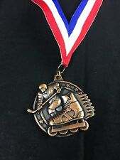 Vintage Hockey Medal  medallion Crown Trophy Made In USA