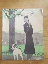 Revue magazine Mademoiselle N°277 1930 Mode Tricot nouvelles articles vintage