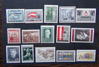 Austria 1946 UNO 1954 Avalanche 1955 Relief Fund 1958 Republic 1965 Nobel MNH