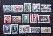 Austria 1946 uno 1954 Avalanche 1955 Relief FUND 1958 REPUBBLICA 1965 NOBEL Gomma integra, non linguellato