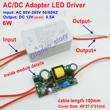 AC-DC Converter AC 110V 220V 230V to 12V 0.5A 6W LED Driver Adapter Transformer