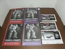 TRANSFORMERS LEADER CLASS INSTRUCTIONS LOT OPTIMUS PRIME,NEMESIS,BRAWL,BUMBLEBEE