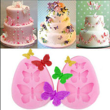 3D Butterfly Silicone Fondant Mould Sugarcraft Chocolate Cake Decor Barking Mold