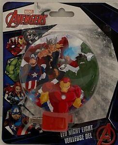 Disney Marvel Avengers LED Night Light Nightlight Plug In New A43