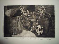 Roberto Cabot (Rio de Janeiro Brasil 1929) grabado 21/50 firmado 39x19 en 33x50c