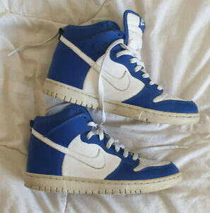 Nike Dunk High Shoes Blue white Size 7 US