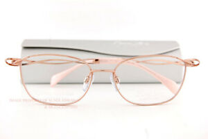 New CHARMANT Eyeglass Frames Titanium Line Art XL 2148 RG Rose Gold For Women