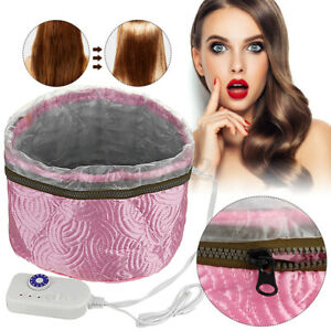 Electric Heating Thermal Treatment Steamer Mask Cap Therapy Hair Care Spa Beauty