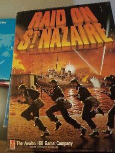 Raid on St. Nazaire Vtg Avalon Hill Board Game complete.