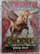 Magic the Gathering: Exodus: Theme deck: White Heat FACTORY SEALED 60-card Deck!