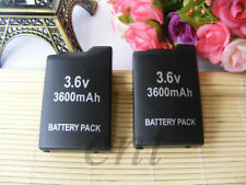 3600mAh 3.6V Rechargeable Extra Long Battery Long Pack for Sony PSP 1000/1001 x2