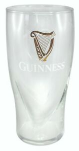 GUINNESS EMBOSSED PINT GLASS WITH HARP 20 oz OFFICIALLY LICENSED