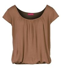 BNWT Women's Peasant Gypsy Top with Cap Sleeve & Elasticated bottom Sizes 8-20