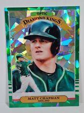 2019 Donruss Optic Matt Chapman SSP /7 DIAMOND KINGS GREEN CRACKED ICE OAKLAND🌠