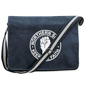 Northern Soul Vintage Canvas Dispatch Bag With Embroidered Fist Logo. Mod. Ska