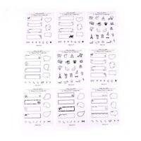 8 sheets Decoration Stickers For Polaroids Photo Scrapbook Diarybook Noteb SE