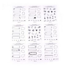 8 Hojas/Set Decoración. Adhesivos para la tecnología de foto Álbum De Recortes diarybook portátil