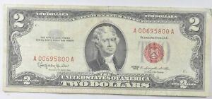 Crisp 1963 Red Seal $2 United States Note - Better Grade *811