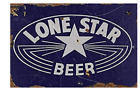 LONE STAR BEER TIN SIGN NATIONAL BEER OF TEXAS BUSCH PABST BAR PUB FORT WORTH