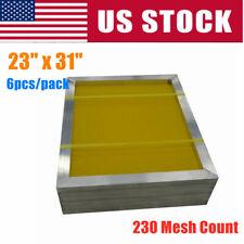 6 Pack 23 X 31 Aluminum Silk Screen Printing Frame 230 Yellow Mesh Count