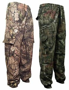 Mens Stealth Trousers tree fishing hunting shooting camo camouflage bottoms M-5X