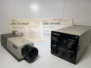 Sony DXC-102P Ccd Color Video Camera CMA-10CE Camera AC Adaptor Inc Manuals CCTV