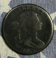 1800 / 79 OVERDATE Draped Bust Copper Large Cent Old US Collector Coin.