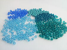 Swarovski 5000 4mm rounds  Blue Mix WHOLESALE lot 442 beads (barg66)
